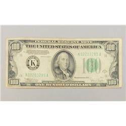 1934 One Hundred Dollar Bill Dallas Texas Mint