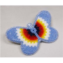 Native American Beaded Butterfly Barrette