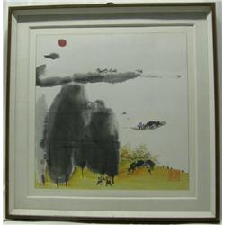 Original Framed Chinese  Painting Signed