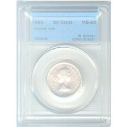 25 Cents 1955, graded CCCS MS-63; Doubled Dare (rare Hub Doubling).