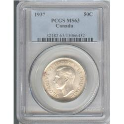 50 Cents 1937, graded PCGS MS-63.
