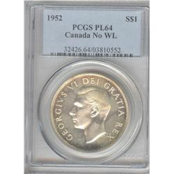 Dollar 1952, graded PCGS PL-64 No Water Line.