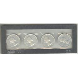 Dollar 1959, 1960, 1961 & 1962, grade AU to UNC in a holder.