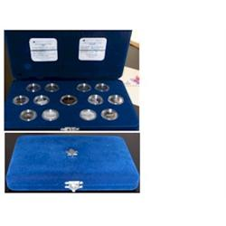 25 Cents Silver Proof Set 1992 Provinces du Canada with Proof Dollar 125e included.