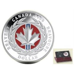 Dollar Proof 2006 Bravery Medal colored.