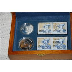 Dollar Proof 2008 400th anniversary of Québec with Fleur de Lys Privy Mark &  French  similar coin +