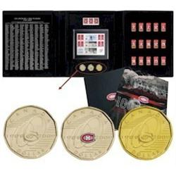 Souvenir Dollar Set 100th anniversary of the Montreal Canadian sold in Canada's Post Offices + speci