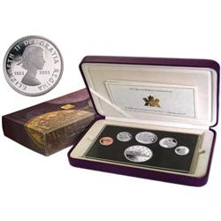 Proof Set 1953-2003 commémorating the Queen 50th Crowning Anniversary.