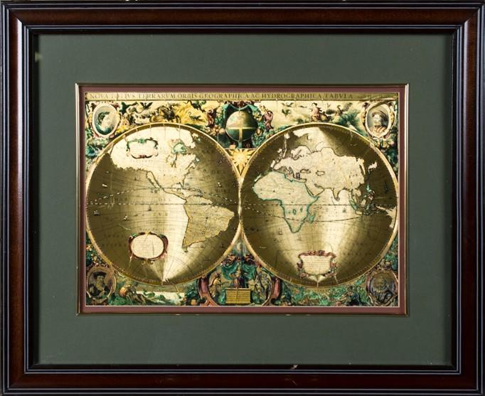 Framed foil map of the world framed foil map of the world loading zoom gumiabroncs Choice Image