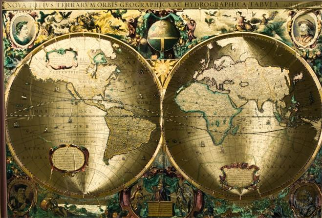 Framed foil map of the world image 2 framed foil map of the world gumiabroncs Choice Image