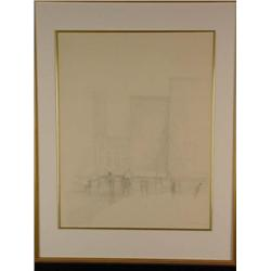 Original 1968 Harold Altman Pen & Ink Drawing Signed