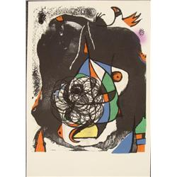 Joan Miro : Revolution II Abstract Art Print