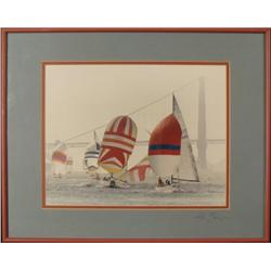 Boats on San Francisco Bay Signed Framed Photograph