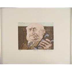 Charles Bragg Signed Numbered Color Etching Exhibit A