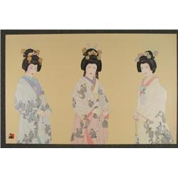 Hisashi Otsuka Signed Asian Art Print Eternal Bride