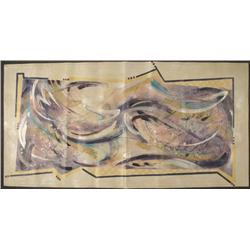 Lea Lazarus Original Abstract Art Painting Tapestry