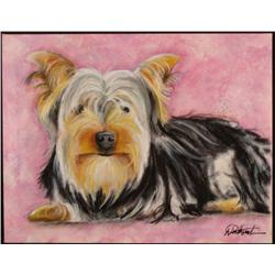 Duerrstein Orig Dog Painting Yorkie Yorkshire Terrier