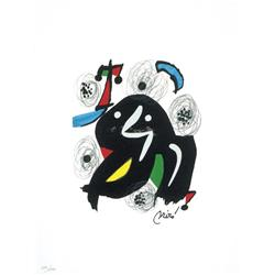 Joan Miro Ltd Ed Print from La Melodie Acide 1980 (4)