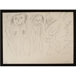 Georg Baselitz Original Nude Expressionist Drawing