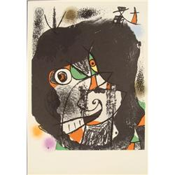 Joan Miro : Revolution I Abstract Art Print