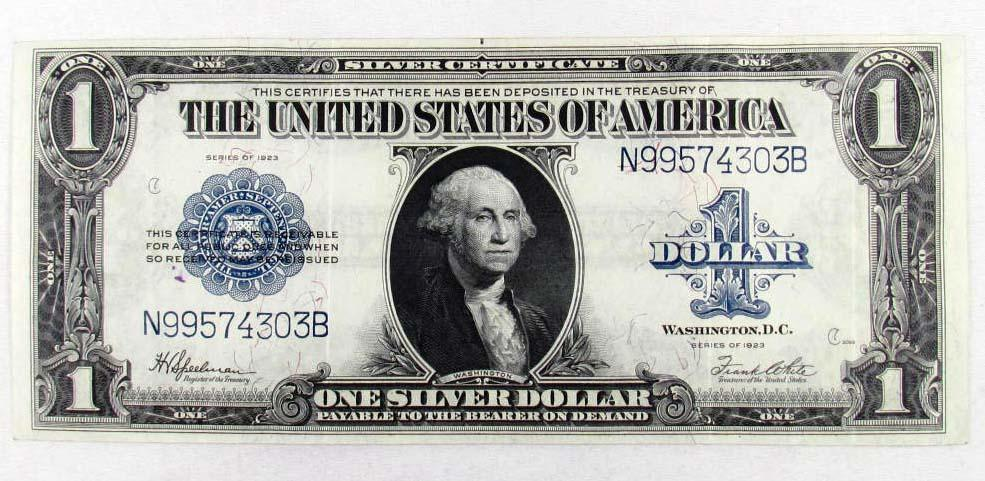 1923 US ONE DOLLAR SILVER CERTIFICATE - LARGE
