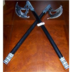 2x Pair Of Decorative Battle Axes New In Box W Wall Mount