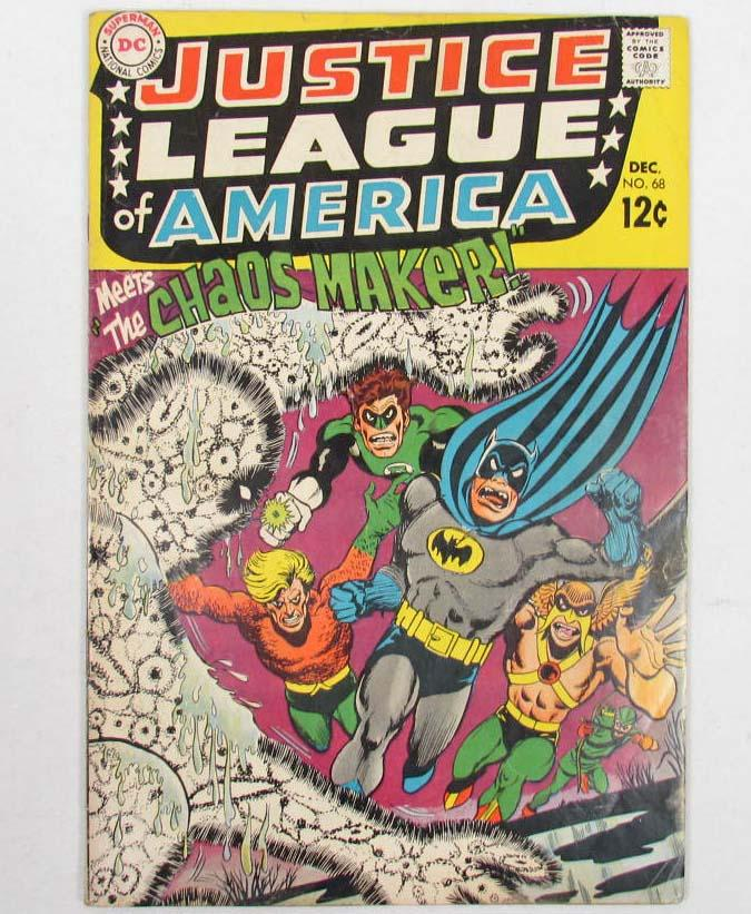 Free Comic Book Day Locations: VINTAGE JUSTICE LEAGUE NO. 68 COMIC BOOK W/ BATMAN