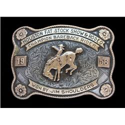 Jim Shoulders' Houston Fat Stock Show & Rodeo Buckle