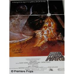 Star Wars Autographed One Sheet Poster