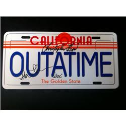 Back to the Future (1985) Autographed License Plate
