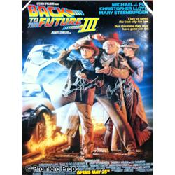 Back to the Future  III (1990) Autographed Poster