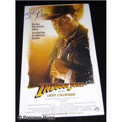 Indiana Jones and the Last Crusade (1989) Autographed Poster