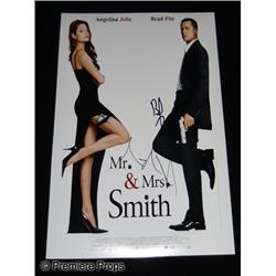 Brad Pitt and Angelina Jolie Autographed Mr. & Mrs. Smith  Photo