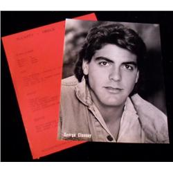 George Clooney Original Headshot & Resume