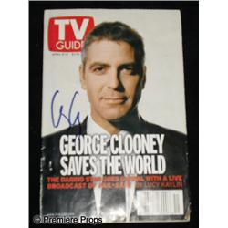 George Clooney Autographed TV Guide