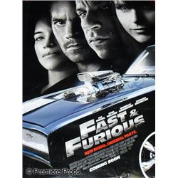 Fast and the Furious: New Model. Original Parts. Cast Autographed One Sheet Poster