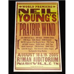 Neil Young: Heart of Gold / Prarie Wind (2006) Rare Poster