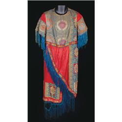 Elaborate dress tunic with beaded embroidery and fringe attributed to Ben-Hur: A Tale of the Christ