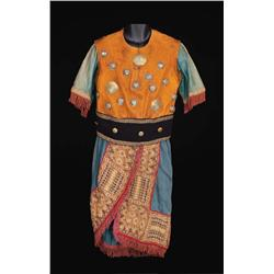 Tunic with suede top embellished with brass hemispheres attributed to Ben-Hur: A Tale of the Christ