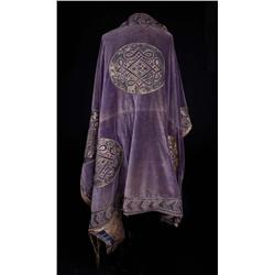 Large purple cape with gold appliqué from Ben-Hur: A Tale of the Christ
