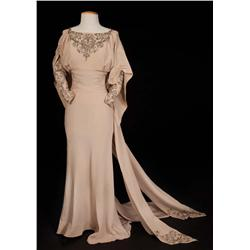 "Carole Lombard ""Connie Randall"" beige gown by Travis Banton from No Man of Her Own"