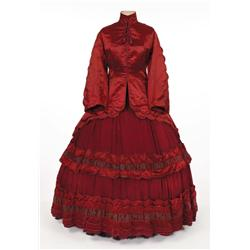 "Edna May Oliver ""Aunt March"" burgundy period dress from Little Women"