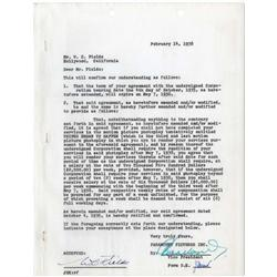Archive of W. C. Fields contracts: David Copperfield, Man on the Flying Trapeze, It's a Gift &others