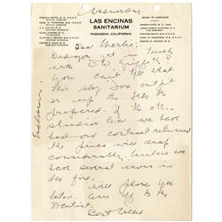 Mae West and W. C. Fields signed contract for My Little Chickadee, Fields letters and other ephemera