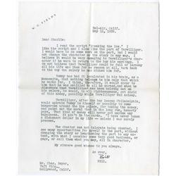 W. C. Fields archive of correspondence
