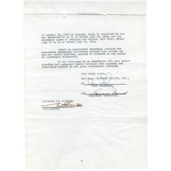 W. C. Fields contract and archive of typed letters signed and other correspondence for the year 1940
