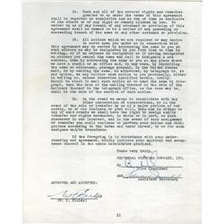 W. C. Fields contract, Renie Riano material and miscellaneous artists' contracts