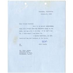 W. C. Fields archive of signed contracts, typed letters signed and studio correspondence 1944-1945