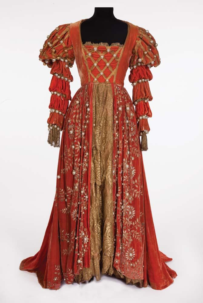 Suite of (3) elaborate period gowns plus Ross Alexander\'s tunic ...