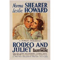 Romeo and Juliet original 1938 U.S. one-sheet poster